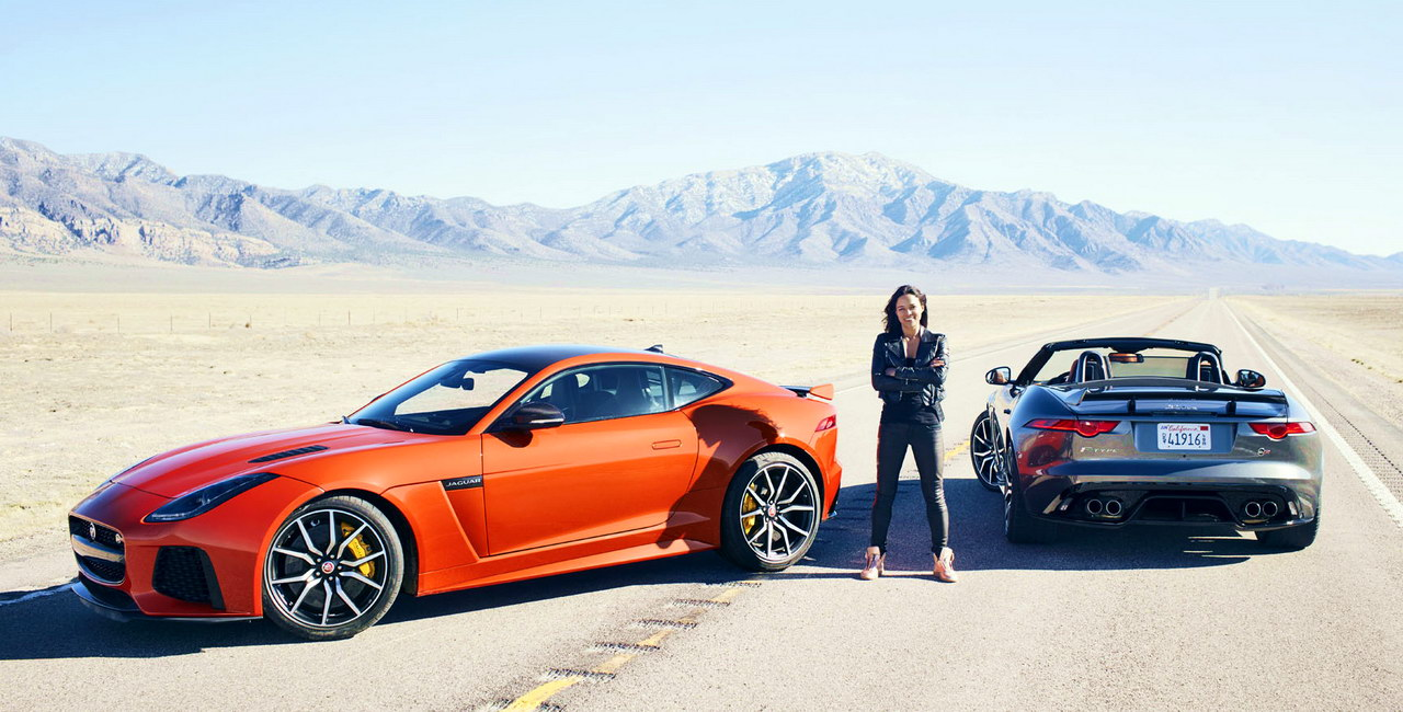 Michelle Rodriguez F-TYPE SVR 1