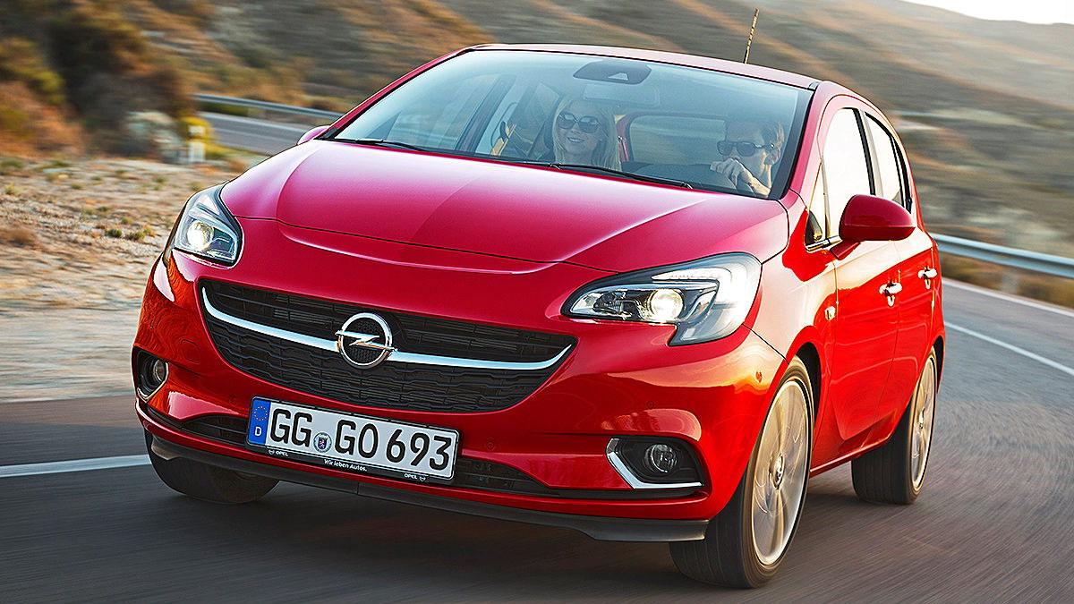 Opel Corsa текущего поколения.