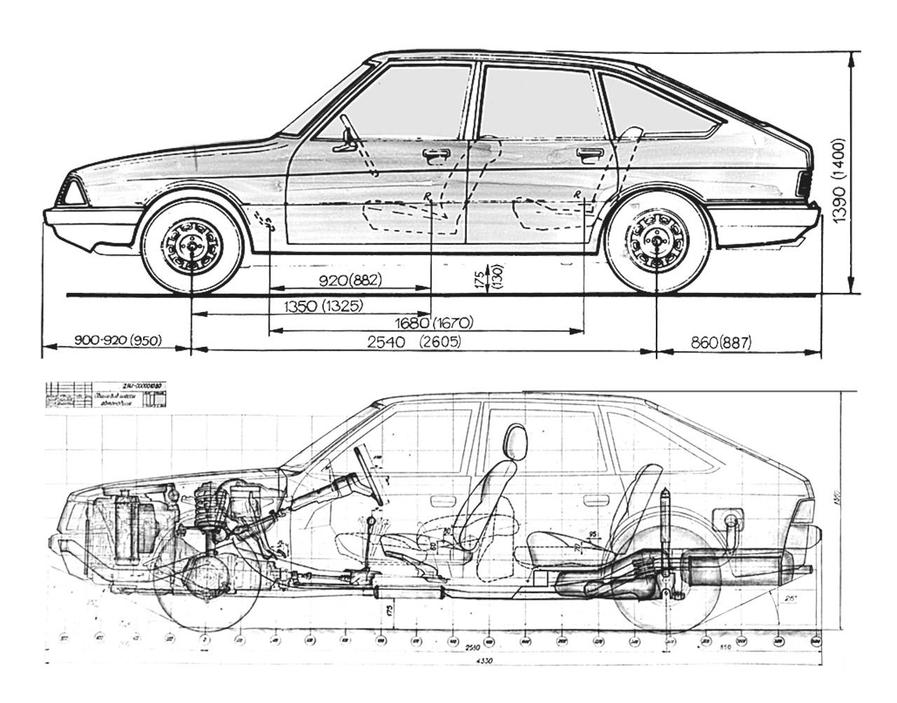 Simca 1307, Москвича‑2141