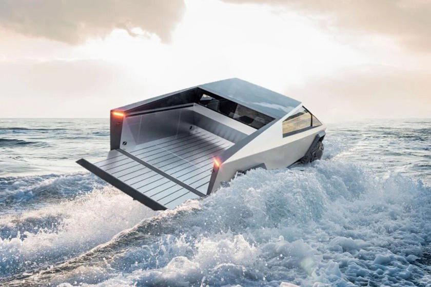 Tesla Cybertruck float