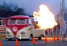 VW Van rocket
