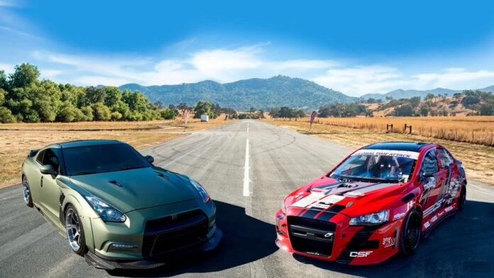 Nissan GT-R vs Mitsubishi Evo X