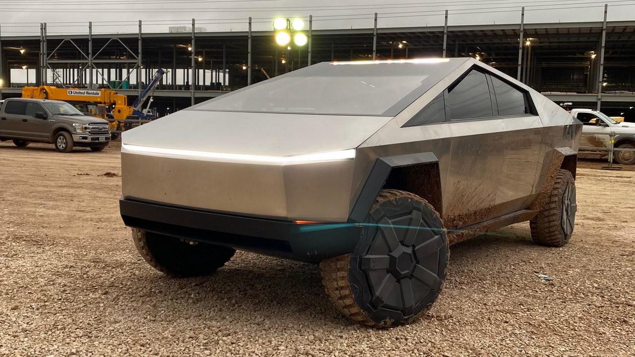 Elon Musk with CyberTruck