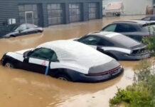 Porsche-Dealership-Flood