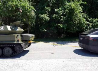 Tesla vs tank